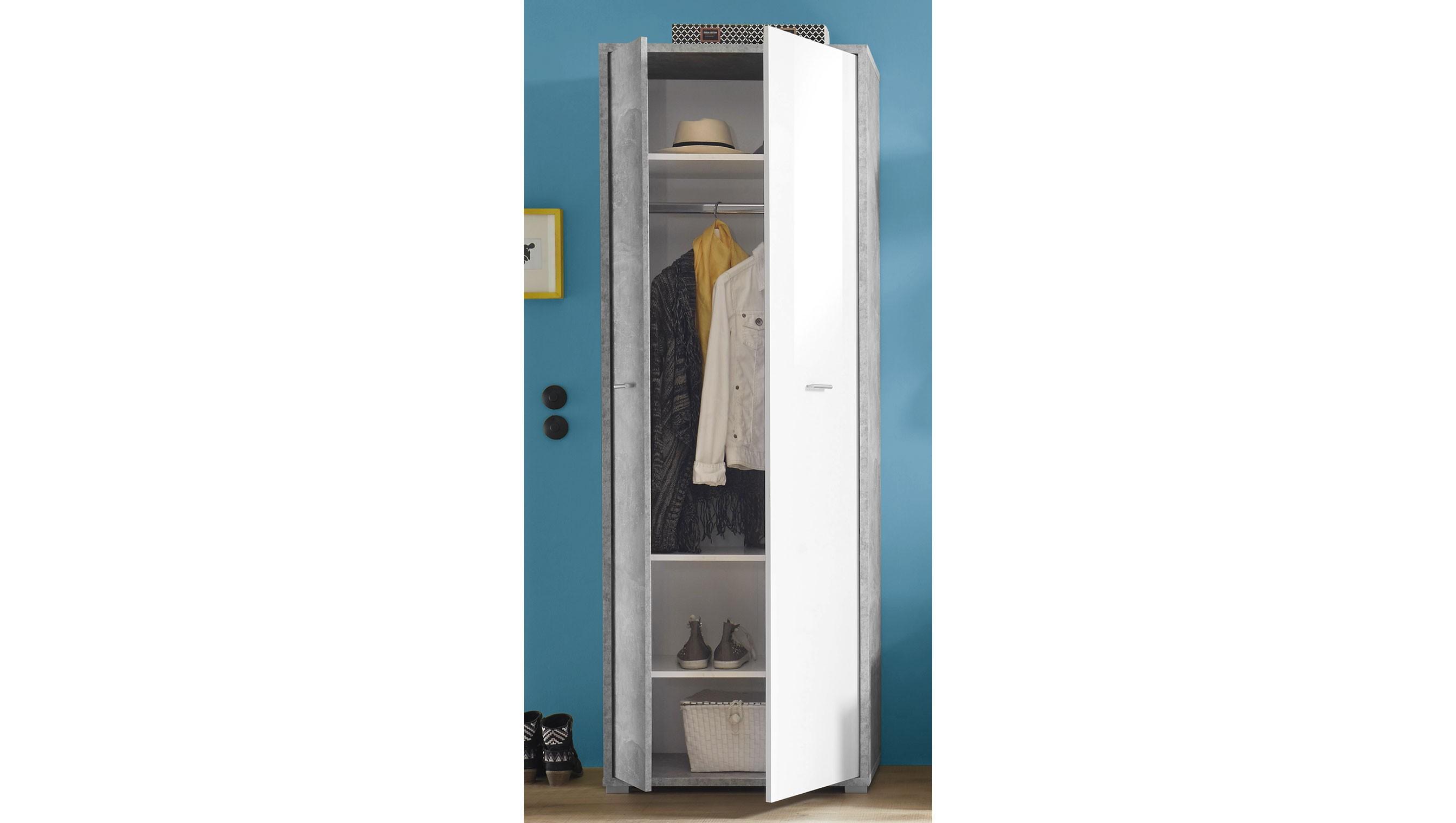 Brilliant Garderobenschrank Weiß Ideen Von Mountain .