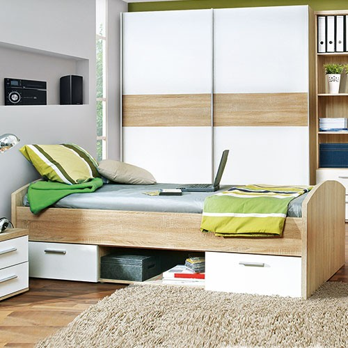 jugendzimmer bett spilger s sparmaxx. Black Bedroom Furniture Sets. Home Design Ideas