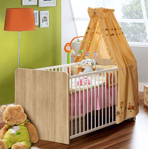 babybett babyzimmer sonoma eiche kinderbett spilger s sparmaxx. Black Bedroom Furniture Sets. Home Design Ideas