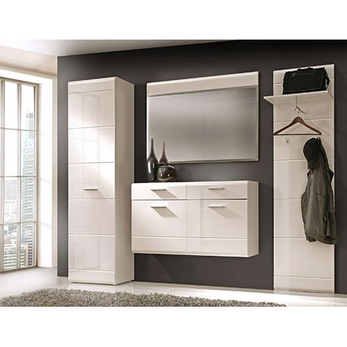 schuhschrank h ngend shopthewall hngeschrank weiss hochglanz tiefgezogen grau woody. Black Bedroom Furniture Sets. Home Design Ideas