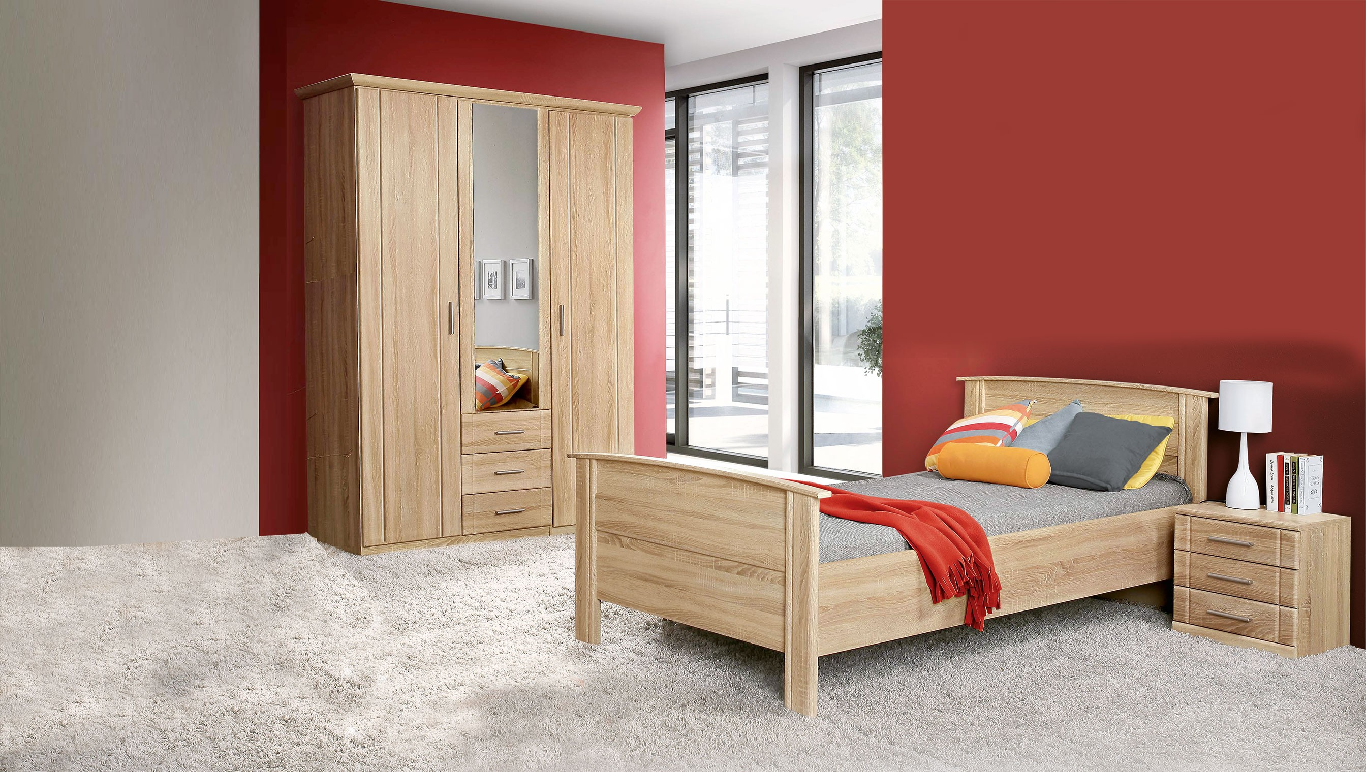 kleiderschrank sonoma eiche spilger s sparmaxx. Black Bedroom Furniture Sets. Home Design Ideas
