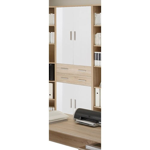 schrank sonoma eiche kleiderschrank nano wei sonoma eiche grau b h t 121 200 54. Black Bedroom Furniture Sets. Home Design Ideas