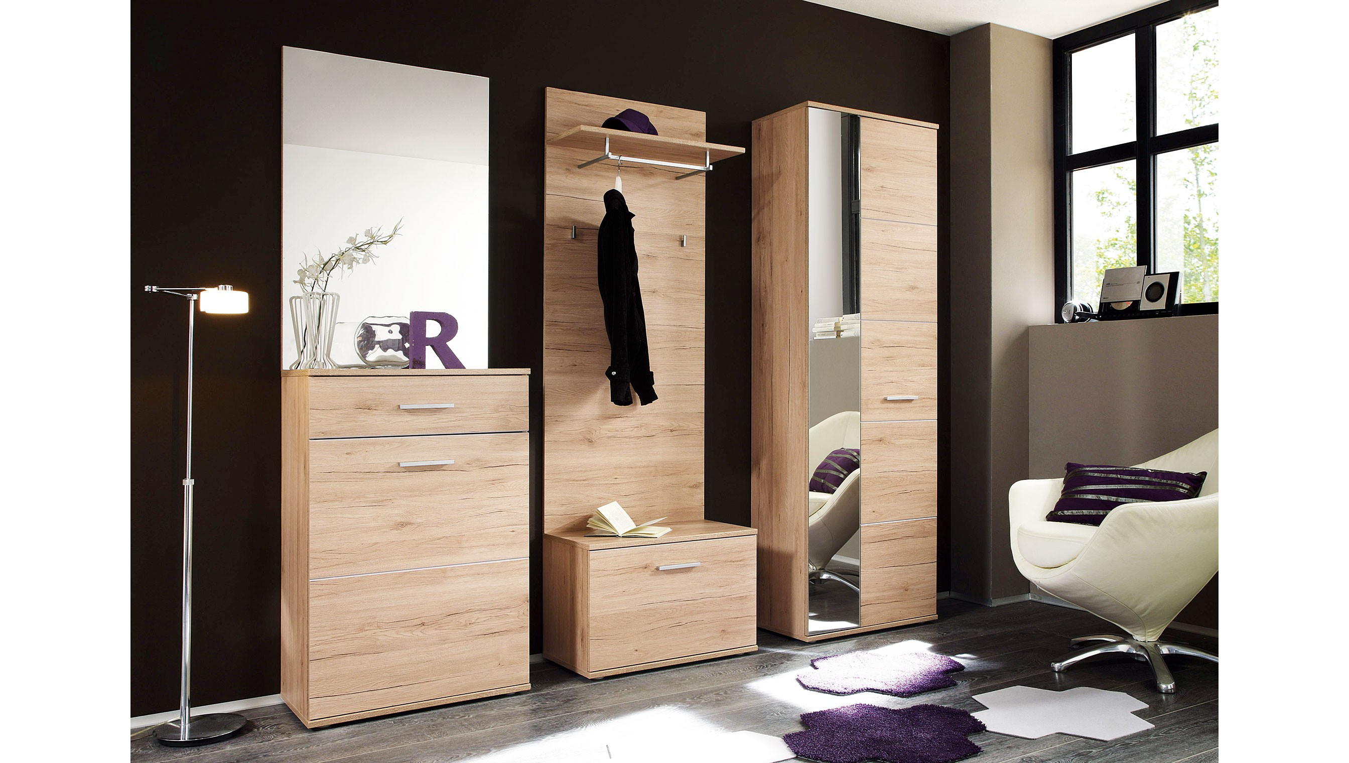 garderobenschrank san remo eiche spilger s sparmaxx. Black Bedroom Furniture Sets. Home Design Ideas