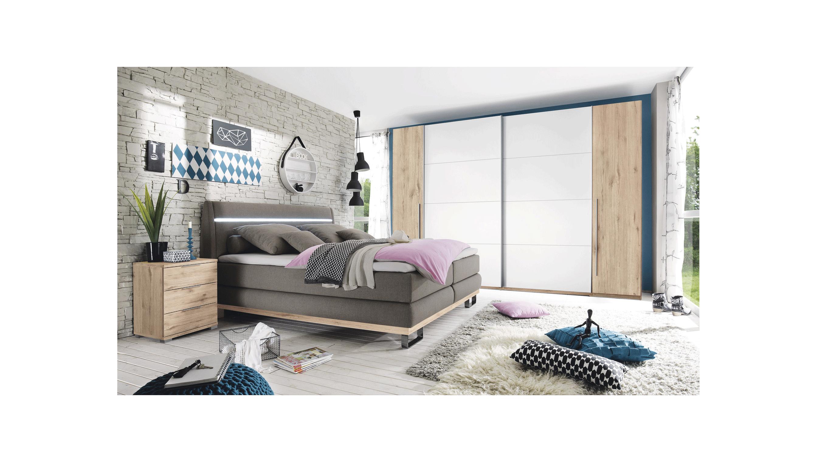 kombi kleiderschrank sandeiche nb wei spilger s sparmaxx. Black Bedroom Furniture Sets. Home Design Ideas